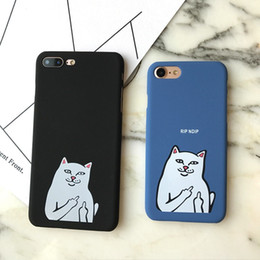 Wholesale Hard Case Cat Iphone - Cute Cartoon Cat Frosted Hard PC Phone Case For Iphone 6 6s 6plus 7 7plus 8 Plus 6 S Back Cover JKC026