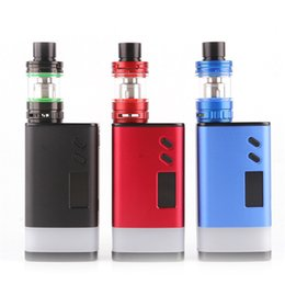 Wholesale E Cig Led - 100% Original Sigelei Fuchai GLO 230W Vape Kit with SLYDR M Atomizer 6 Optional LED colors E Cig