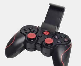 Almohadilla de juegos para móviles online-Terios T3 Bluetooth Gamepad para Android Teléfono inteligente Caja de TV Joystick inalámbrico Joypad Game Pad Controller W / soporte de soporte móvil