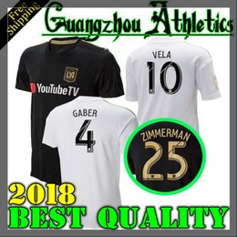 Wholesale Fc Soccer Jersey - NEW Arrived 2018 LAFC Carlos Vela Soccer Jerseys 18 19 Home GABER ROSSI CIMAN ZIMMERMAN home away TOP Quality Football Shirt Los Angeles fc
