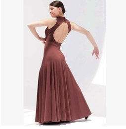 Модные платья онлайн-sexy Standard Ballroom Dress Led Costume Modern Dance One-piece Dress Expansion Practice Skirt Ballroom Waltzing Tango  Trot