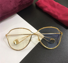 c192f3ccee1 2018 new fashion designer Optics glasses 0256 hollow frame lens simple  summer popular style HD lens outdoor protection eyewear for women