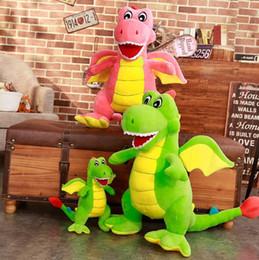 brinquedos de dinossauro rosa Desconto Atacado 55 cm-1.8 m Rosa verde Dinossauro Stuffed Animal Plush Stuffe Dinossauro Stuffed Toys Adorável Simulação Animal Boneca YH1520
