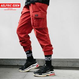 d9506da2e2b Aelfric Eden Mens Joggers Flaco Hip Hop Moda Hombres Pantalones cargo  Casual hasta el tobillo Harem Red Tactical Track pantalones deportivos TC01