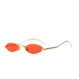 90-е овальные солнцезащитные очки маленький круглый для женщин 2018 Рианна мода тонированные Красный мужчины очки дамы старинные очки желтый очки от