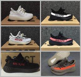 Wholesale Tennis Infant - Original Boost 350 V2 Infant Bred Beluga Zebra Kid Running Shoes Sneaker Girl Boy Fashion Kanye West SPLY 350 Tennis Run Sport Trainer