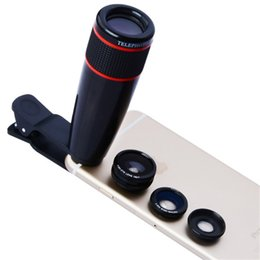 Wholesale 12x Zoom Lens - 12X Optical Zoom Camera Telephoto Lens Phone Telescope For IPhone X 8 7 6S 12X Lens For Samsung