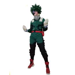 Anime My Hero Academia Traje Cosplay Izuku Midoriya Trajes Cosplay Trajes de Batalha com acessório de Fornecedores de traje tigger