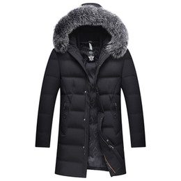 Wholesale Fox Clothing Men - 2017 Thick Down Jacket New Long Winter Down & Parkas Warm Fashion Business 90% White Duck Jackets And Coats Brand Clothing