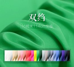 Wholesale Silk Fabric Shirts - 100% Pure Muberry Satin Soft Solid Color Silk Crepe Silk fabric Dressmaking Clothes Skirt Shirt Making Materials 5 Yards H860