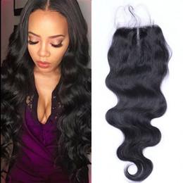 2019 цвет волос для азиат Бразильская Объемная Волна Закрытие Шнурка 4*4 Среднее / Свободное / 3 Части Естественное Закрытие Человеческих Волос Цвета Ремы 8 До 20 Дюймов Пинг