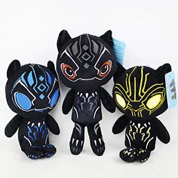 cosplay naruto zeichen Rabatt Heißer Verkauf 3 Stil 25 CM Black Panther The Avengers Plüsch Puppe Stofftier Für Kind Besten Geschenke
