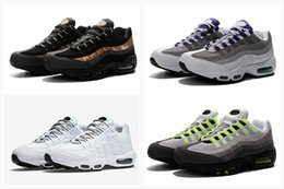 Wholesale Max Men Running Shoes - 2018 New Arrive Running Shoes Men women Cushion 95 Sneakers Boots Authentic Maxes 95 Walking Outdoor Sports Shoes Size Eur 36-46