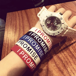 braccialetto dei braccialetti dei braccialetti Sconti Fashion I PROMISE Surfer Bracciale in silicone con cinturino in silicone Bracciale James Basketball Uomo Jewerly D105