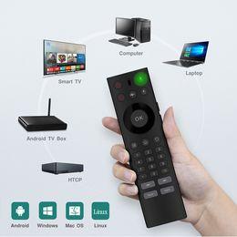 2019 micrófono 2.4G Wireless Fly Air Mouse Control remoto de micrófono Control remoto de voz universal con IR Learning para S905W TV Box Smart Android 7.1 TV Box micrófono baratos
