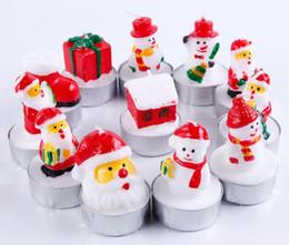 2019 candele carine Candela di Natale Decorativo di Natale Carino Candela Santa House Fiocco di neve Forma Hotel Ristorante Disposizione Scena Matrimonio Festa di compleanno sconti candele carine