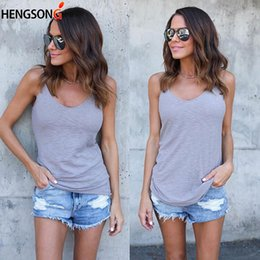 2018 Hot Sale Women Tank Tops Summer Sexy Slim Sleeveless Shirt Tops Vest  Casual Soild Camisole Ladies Clothing 6b4b55af47e0
