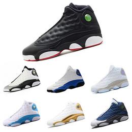 Chaussures de basket marron en Ligne-2019 13 XIII Hommes Chaussures De Basketball Noir Chat Marron CHICAGO Altitude Elevé Il A Obtenu Jeu Amour Respect Sneaker Chaussures De Sport 8-13