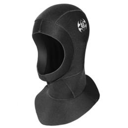 Traje de buceo online-3mm Neopreno Impermeable Scuba Diving Cap Hood Snorkel Invierno Swim Hat Ear Protect Traje de neopreno Mujeres Hombres