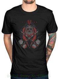 2019 chemise vikings Vikings officiel Thor T-shirt T-shirt O cou Mode décontracté de haute qualité T-shirt imprimé chemise vikings pas cher