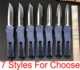 Wholesale blue knives - Top funtion Dark Blue A161 D A Auto Ravencrest Tactical Knife 7 blade styles Combat troodon A162 Large 616 EDC Camping Knives P54Q