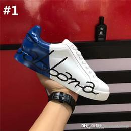 tubo del cordón de los hombres Rebajas Zapatillas de deporte DOLCE GABBANA D.G de alta calidad SNEAKERS portofino rojo PORTOFINO BLANCO Zapatillas deportivas con zapatillas con caja original