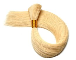Wholesale virgin hair for braiding - Silky Straight 100% Virgin Human Hair Bulk Straight Hair Bulk for Braiding Cabelo Humano Natural Virgin Remy Hair Blonde