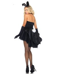 Wholesale Sexy Adult Costumes Animal - sexy cosplay xl MOONIGHT Bunny Girl Rabbit Costumes Women Cosplay Sexy Halloween Adult Animal Costume Fancy Dress Clubwear Party Wear M L