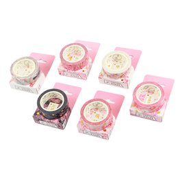 2019 masques de téléphone 12 pcs / lot Sakura fleur washi ruban Papier décoratif masquage rubans autocollant scrapbooking lettre cadre téléphone papeterie A6388 2016 promotion masques de téléphone