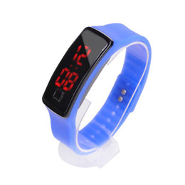 Wholesale jelly touch wrist watch - New Fashion Sport LED Watches Candy Jelly men women Silicone Rubber Touch Screen Digital Watches Bracelet Wrist watch 2018