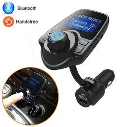 2019 reproductor de video audio portátil T10 Manos Libres Bluetooth In-Car Kit Música Reproductor de MP3 Cargador Transmisor de FM
