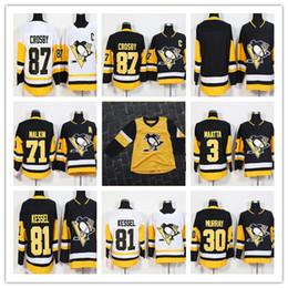 2019 Hockey maschile 87 Sidney Crosby 81 Phil Kessel 71 Evgeni Malkin 30 Murray 66 Lemieux 59 Guentzel Pittsburgh Penguins Terza maglia gialla cheap yellow pittsburgh penguin jerseys da giallo pinguino pinguino pinguino fornitori