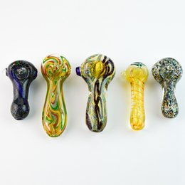 Wholesale cooler types - Cool Quality Glass Smoking Pipes Colorful Glass Pipe Hand Pipes Use For Tobacco Glass Pipes Candy Hand Pipe For Smoking