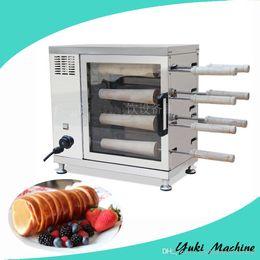 Машина конуса вафельные онлайн-Дымоход торт ролл машина автоматическая жареный хлеб ролл машина электрический дымоход торт печь для продажи Waffle cone maker