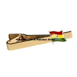 Wholesale Flag Link - Ghana National Flag Tie Clip