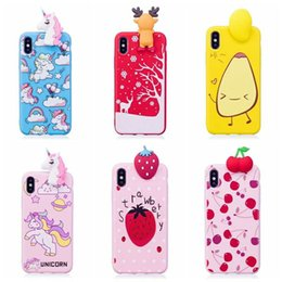 Wholesale Iphone Christmas Santa Case - 3D Santa Claus Soft Silicon Case For iphone X 8 7 Plus 6 6S SE 5 5S Strawberry Christmas Gift+Metal Ring Bling Unicorn Snow Cartoon Cover