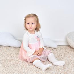 Wholesale Girl Spells - Girls dress 2018 new three flowers spell color gauze skirt children