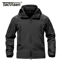Wholesale hunting jackets camouflage - Tacvasen Army Camouflage Men Jacket Coat Military Tactical Jacket Winter Waterproof Soft Shell Jackets Windbreaker Hunt Clothes
