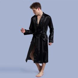 Albornoces de kimono online-Kimono Robe Hombres para hombre albornoz de seda Robe Sexy Kimono Hombre 1197