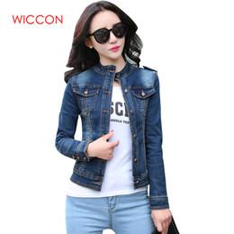 09c696fe33584 Fashion New Arrival Women s Denim Jackets Vintage Casual Single Breasted Coat  Female Jean Jacket For Outerwear Women Basic Coats Y18110501