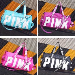 Wholesale Letters For Doors - Fashion Letter Pink Beach Storage Bag Unisex Travel Shoulder Bag Waterproof Luggage Bag For Gym Sport Gifts 5Colors WX9-563