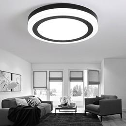 Lámpara LED moderna, blanca y negra, con forma de aleación de acrílico LED. Luz LED. Luces de techo. Lámpara de techo con luz LED. Lámpara de techo para el vestíbulo desde fabricantes