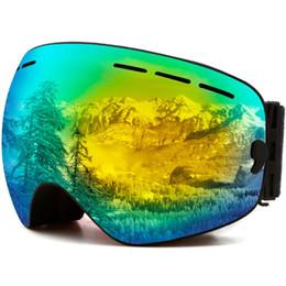 Anti nevoeiro capacete on-line-MAXJULI Óculos De Esqui, Óculos De Proteção Snowboard UV Proteção, Óculos De Neve Capacete Compatível para homens mulheres meninos meninas crianças, Anti nevoeiro OTG