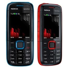 Wholesale Unlocked Cell Phone Gsm - Refurbished Original Nokia 5130 XM XpressMusic Unlocked 2G GSM Bar Phone Bluetooth FM Mobile Cheap Cell Phone Free DHL 10pcs