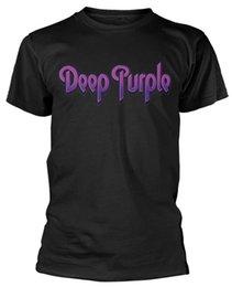 Camisa de algodão roxo profunda on-line-Deep Purple 'Logo' T-Shirt-NEW OFICIAL 2018 Novo 100% Algodão T-Shirts Dos Homens Diferentes Cores de Alta Qualidade