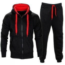 Sudadera con capucha para hombre con cremallera Cardigan pantalones trajes Chándal de dos piezas para hombre Conjuntos de ropa más el tamaño M-XXL desde fabricantes
