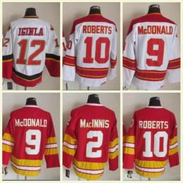 2018 Mens NHL Shirt 12 IGINIA 9 McDONALD10 ROBERTS 2 MacINNIS Red White CCM Vintage  Hockey Jerseys 100% Stitched High Quality 79b025399