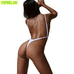 Wholesale Swimwear One Piece Monokinis - 2017 Sexy One Piece Swimsuit Solid Color Swimwear Women Swimsuit Cut Out Bodysuit Bathing Suits Monokinis Beach wear swim suit