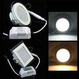 2019 lampade da cucina 2018 Nuovo arrivo pannello a LED in vetro da incasso 6W 18W da incasso a LED da incasso luce camera da letto luce 110V 220V con driver
