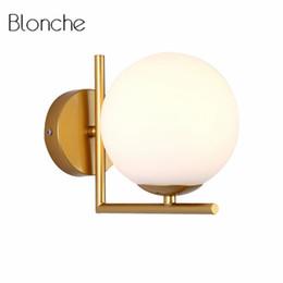 Moderne Boule De Verre Mur Lampe Nordique Led Chambre Miroir Luminaires Intérieur Lampe de Chevet pour Home Decor Couloir Luminaire E27 ? partir de fabricateur